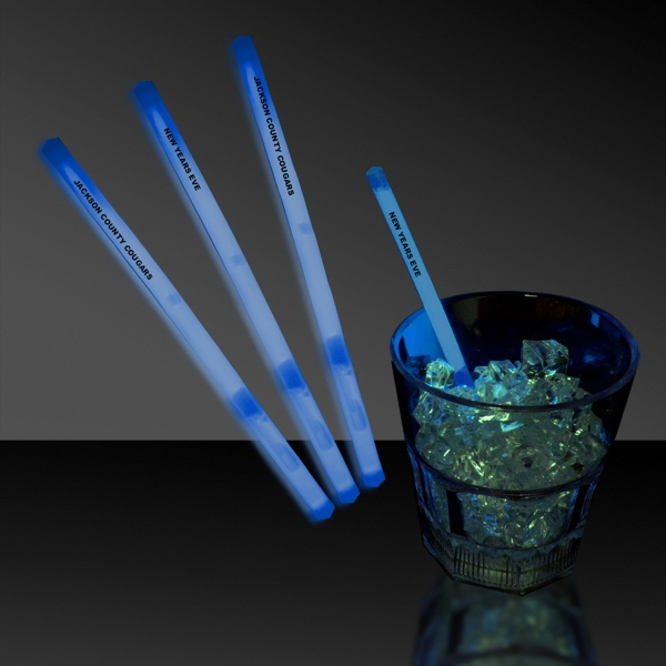 "Blue 5"" Single Color Light Up Glow Swizzle Stick"