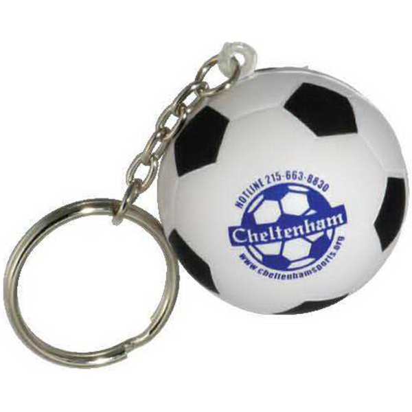 Soccer Ball Key Chain Stress Reliever