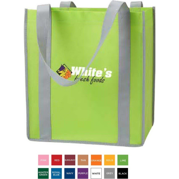 Color Combination Non-Woven Grocery Tote