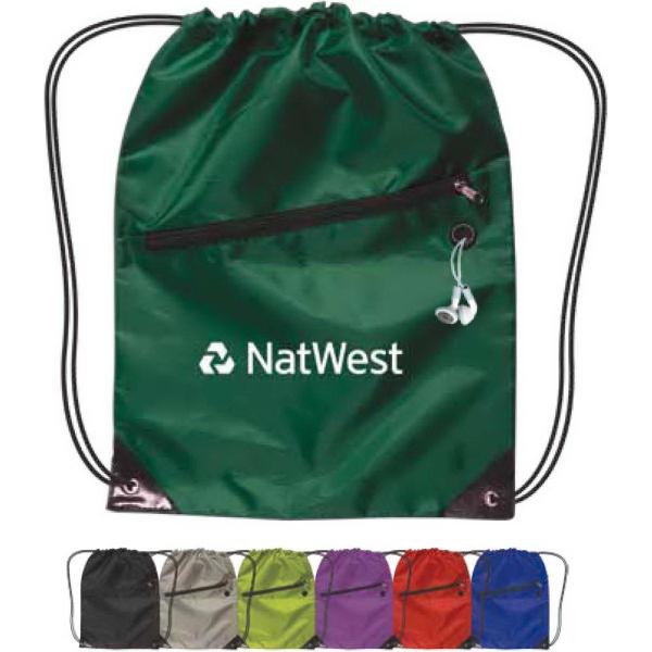 Drawstring Backpack w/ Zipper