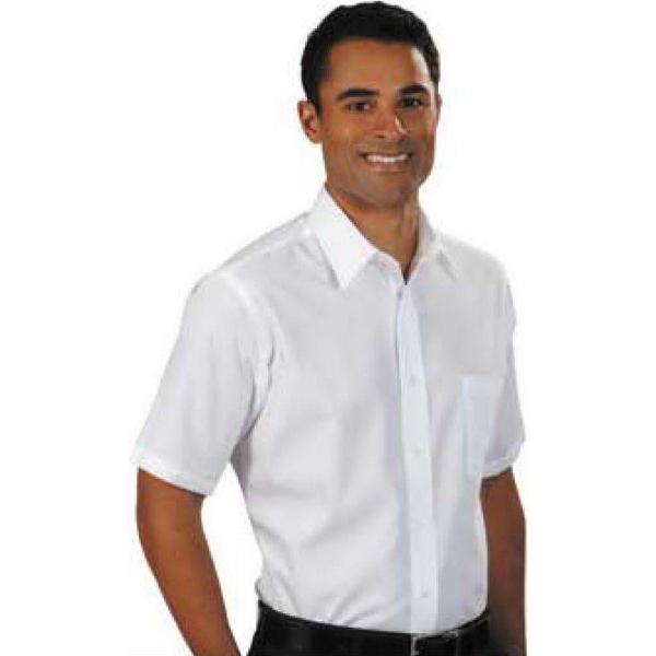 Men's Short Sleeve Cotton Blend Broadcloth Dress Shirt