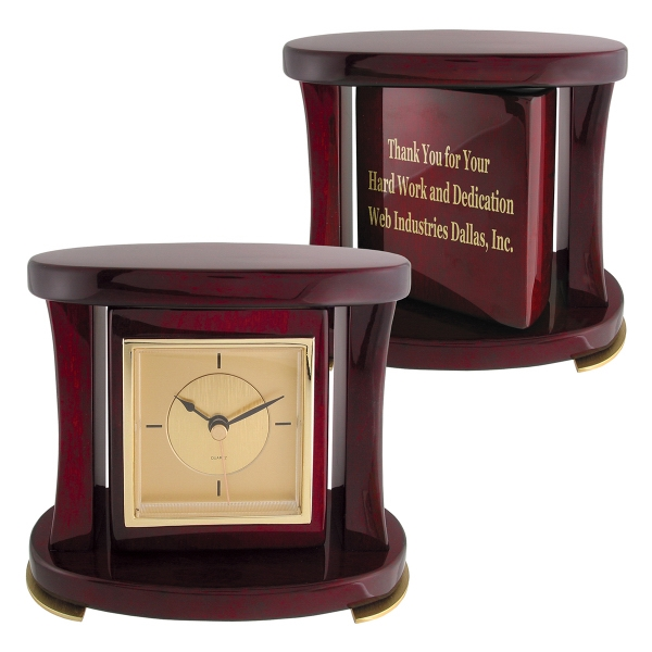 Swivel Piano Wood® Desk Clock