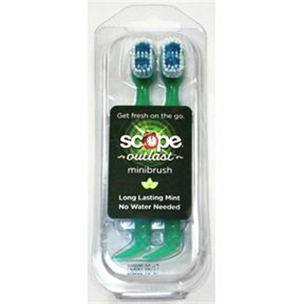 Scope Outlast Minibrush - Long Lasting Mint 2 pack