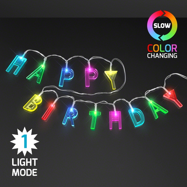 Happy Birthday LED Decorative String Lights, Battery Powered
