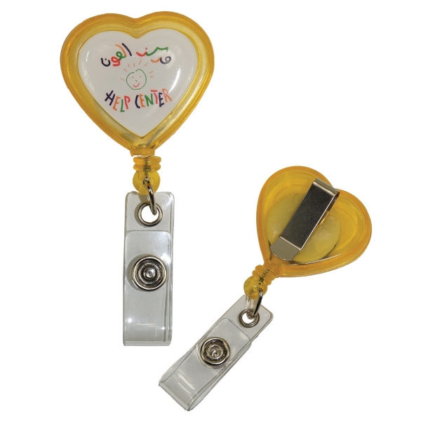 Heart Shaped Retractable Badge Reel