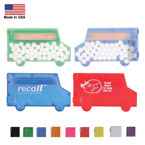 Truck Shaped Mint Box w/Toothpicks