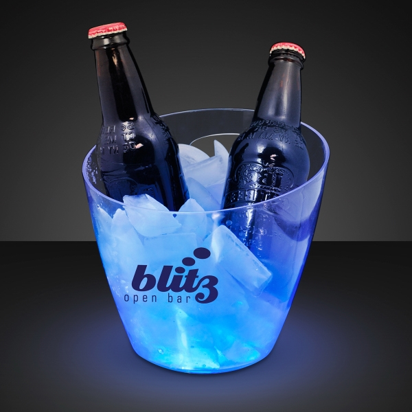 Deluxe blue LED beer bucket