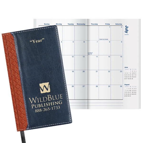 """Legacy Weave Planner - Pocket planner, 3 5/8""""W x 6 1/2""""H closed."""