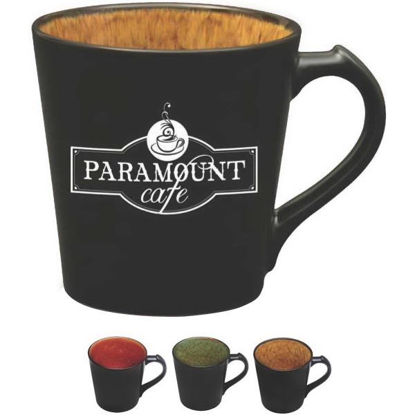 The Vog Series - Vog 14 oz mug with elegant and colorful inner reactive glaze.