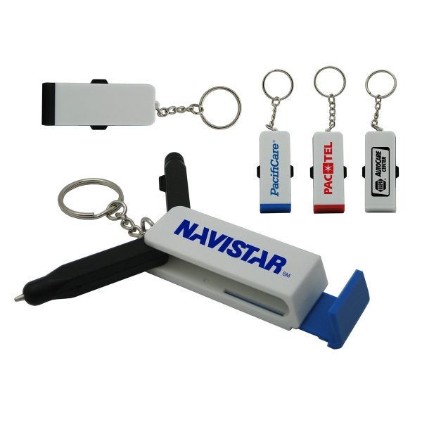 Buckingham 4 in 1 Stylus,  Pen, Stand And Key Chain