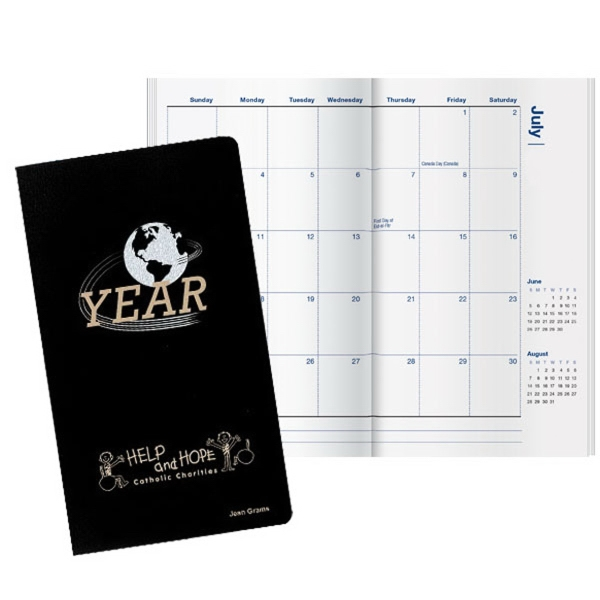 Inspire World Pocket Planner - Pocket planner with classic vinyl soft cover.