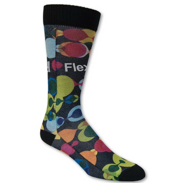 Full Color Sublimated Dress Sock