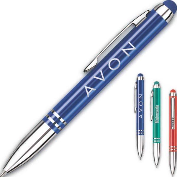 The iNova (TM) Aluminum Pen + Stylus - Compact twist retractable pen with stylus.