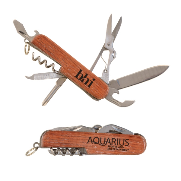 Rosewood Multi-Function Pocket Utility Knife/Tool