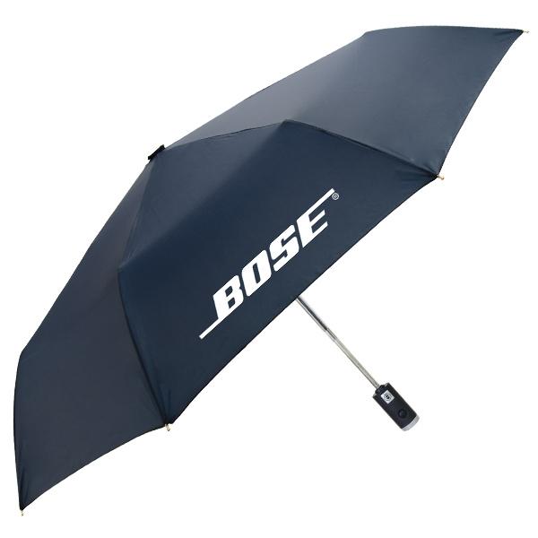"The Flashlight Folding Umbrella - Auto open/close folding umbrella, LED flashlight in handle, 42"" arc."