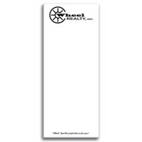 Paper Note Pad 3 1/2 x 8 1/2, 50 pages w/ magnet