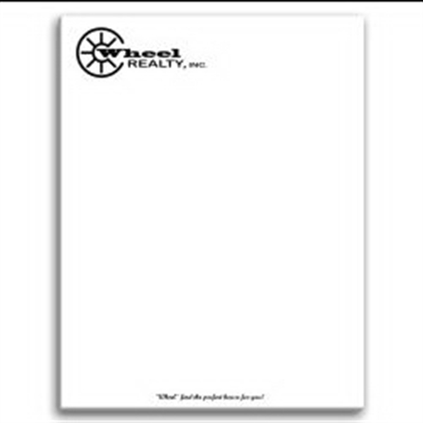 Paper Note Pad 8 1/2 x 11, 25 pages w/ magnet