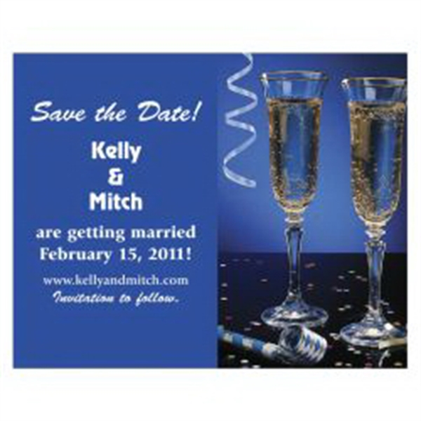 Champagne Glasses Save the Date Magnet - Champagne Glasses Save the Date Magnet