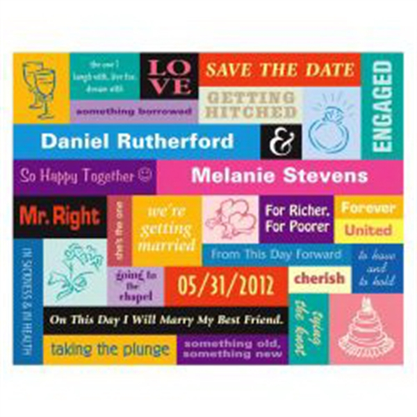 Retro Color Block Save the Date Magnet