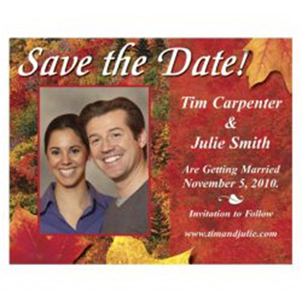 Autumn Save the Date Magnet - Autumn Save the Date Magnet
