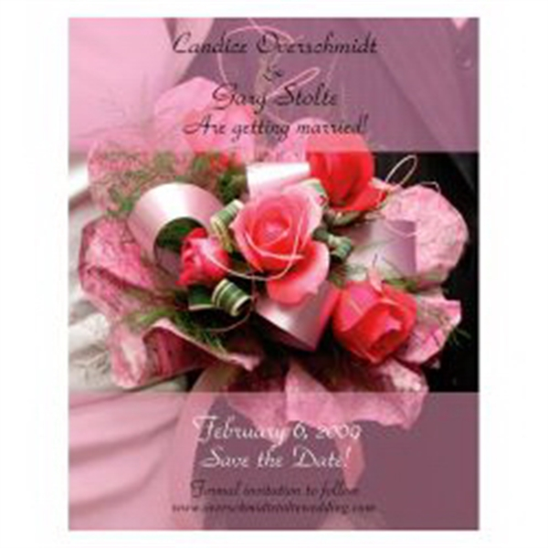 Pink Roses Bouquet Save the Date Magnet