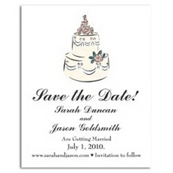 Cake Save the Date Magnet