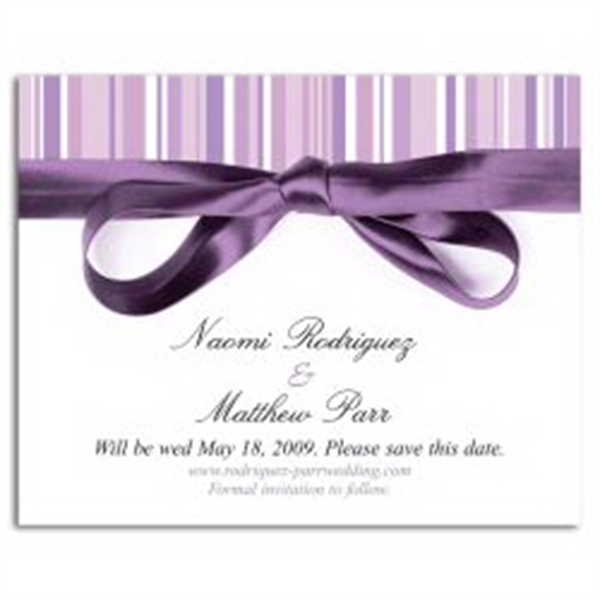 Lavender Stripe Save the Date Magnet