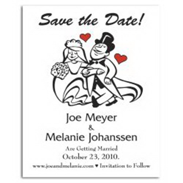Cartoon Couples Save the Date Magnet