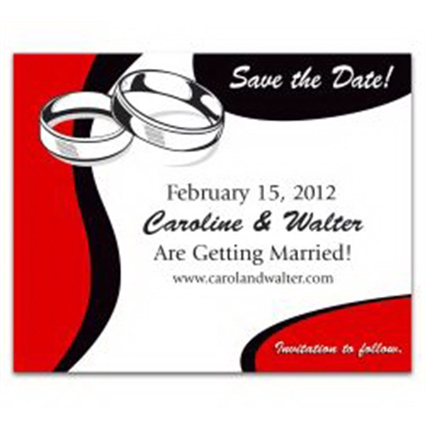 Wedding Rings Save the Date Magnet