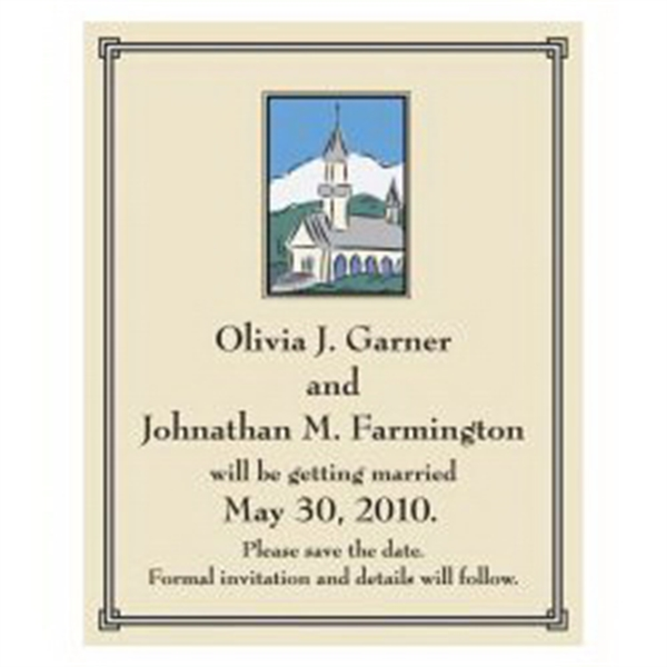 Chapel Save the Date Magnet