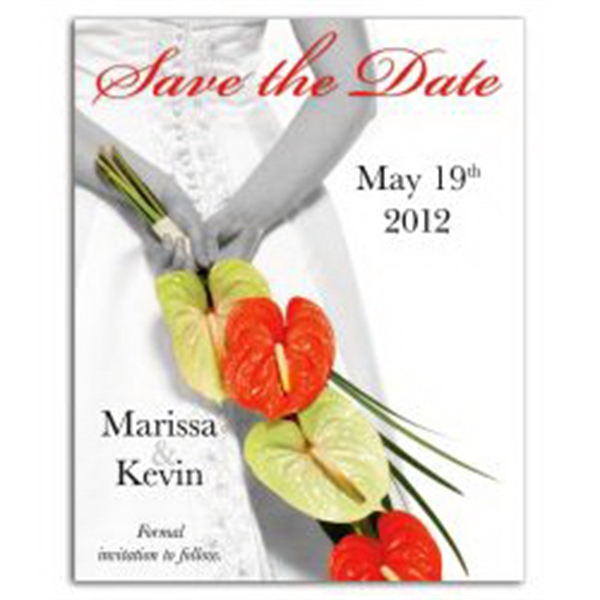 Bride / Flowers Save the Date Magnet
