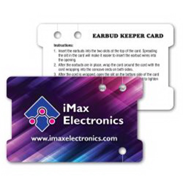Paper Ear Bud Winder / Wallet Card 30 mil