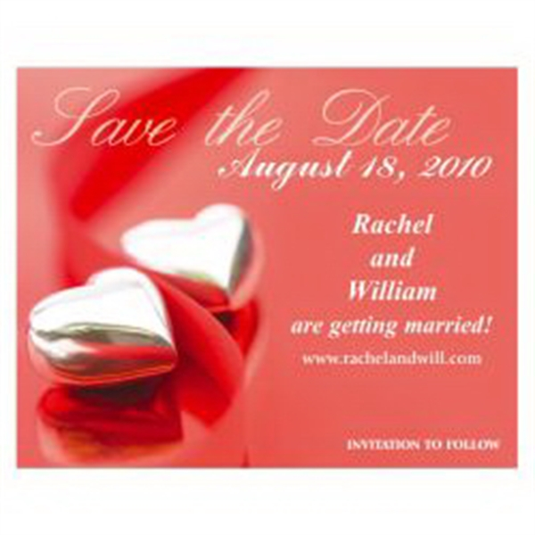 Hearts Save the Date Magnet