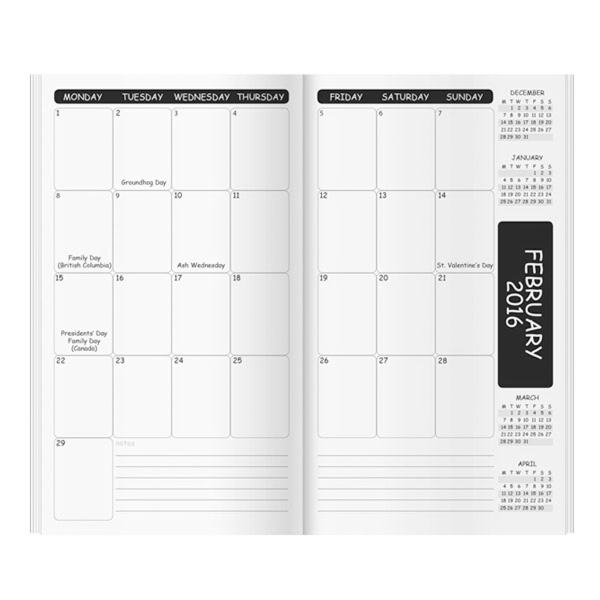 Academic Monthly Inserts/Refills