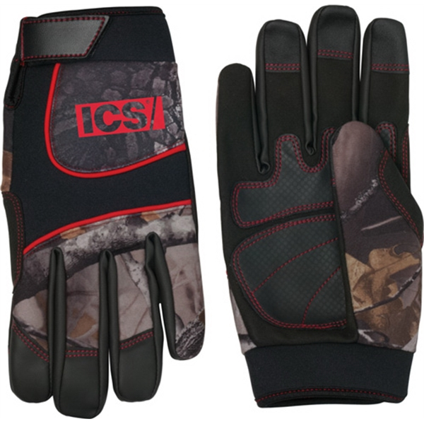 Synthetic Leather Palm Camo Glove