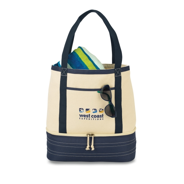 Coastal Cotton Insulated Bag