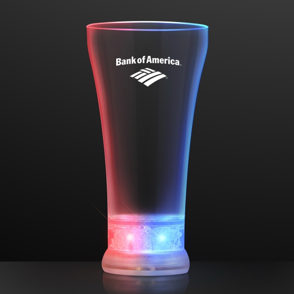 Red, White & Blue LED Pilsner Glass