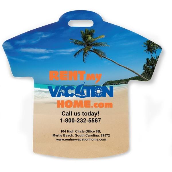 Palm Stock Shape Beach Scene T-Shirt Lug