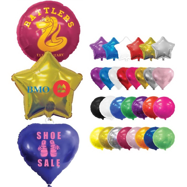 "18"" Shaped Foil Balloon-Round"