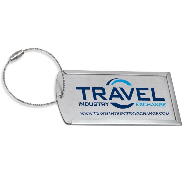 Prestige Brushed Metal Luggage Bag Tag