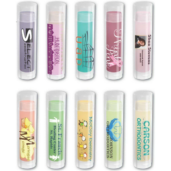 Fresh Mouth (TM) Color Bright Lip Balm - Color bright lip balm, clear tube with VibraColor label.