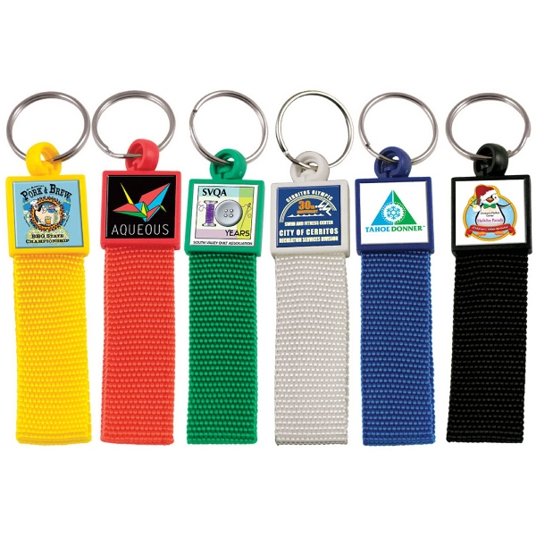 Custom Vibraprint Color Strap Keytag