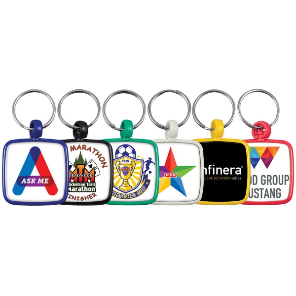 Custom Vibraprint Square Color Keytag