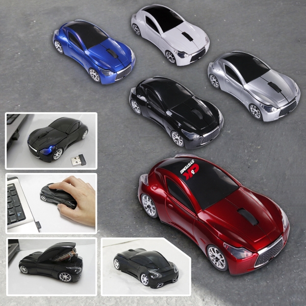 800DPI 2.4GHZ Wireless Sport Car Optical Mouse