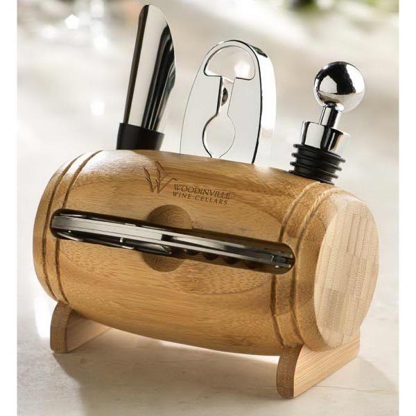 Bamboo Barrel Wine Set