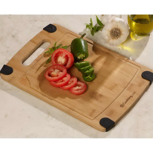 Silicone Grip Bamboo Cutting Board