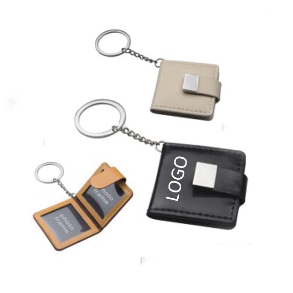 PU Photo Frame Keychain