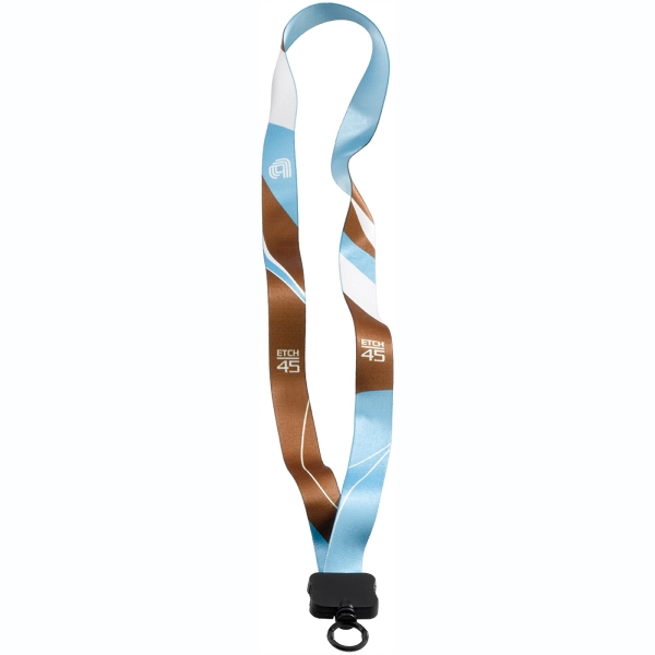 "3/4"" Dye-Sublimated Lanyard with Plastic Clamshell & O-Ring"