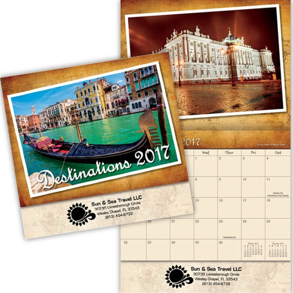 Kingswood Collection Destinations Wall Calendar