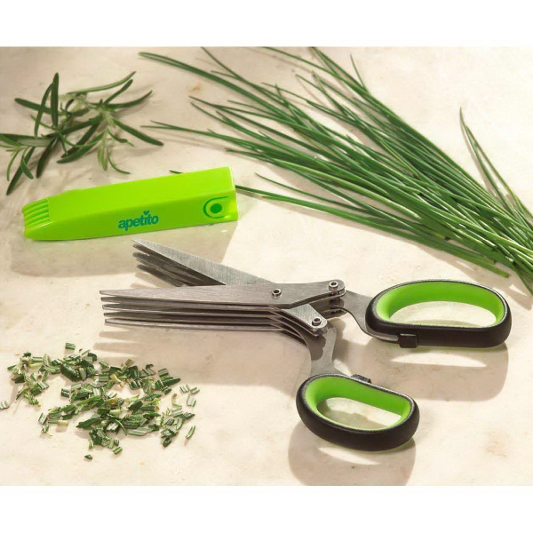 Herb Scissors with Cleaner Cover